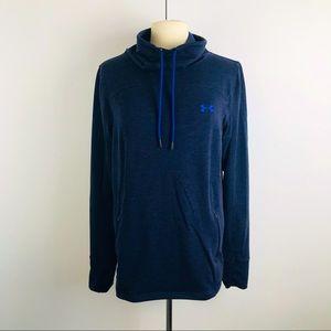 Under Armour Blue Cowl Neck Large Sweatshirt